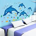 doudouwo®壁のステッカーの壁のステッカー、動物かわいいと美しいイルカ魚やヒトデPVCウォールステッカー