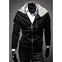 男性用 プレイン カジュアル ジャケット,長袖,伸縮素材,ブラック / グレー