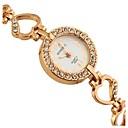 ℃&C女性のカジュアルラインストーンの革の腕時計