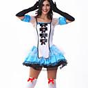 Cosplay Kostýmy / Kostým na Večírek Pokojská Festival/Svátek Halloweenské kostýmy Černá Jednobarevné Šaty Halloween Dámské Šifón / Terylen