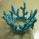 koralja salveta prsten mnoge grane, staklene perle, 4,5 cm, set od 12