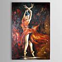Ručně malované Lidé Jeden panel Plátno Hang-malované olejomalba For Home dekorace