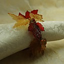 pao list salveta prsten Božić, akril, 1.77inch, set od 12