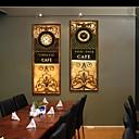 e-HOME® retro vzory hodiny v plátěných 2ks