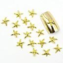 100ks 3d zlatý hřeb šperky metal hvězda pro falešné akrylové formy nail art dekorace