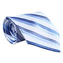 ブルー&ライトブルーのストライプのネクタイ