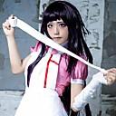 Cosplay Wigs Dangan Ronpa Cosplay Crna Long Anime / Video Igre Cosplay Wigs 100 CM Otporna na toplinu vlakna Female