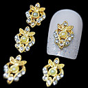 10pcs zlatna luksuzna 3d legure bižuterija nail art ukras