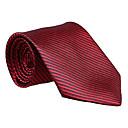 赤いストライプのネクタイ