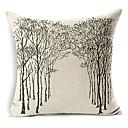 カントリースタイルの森パターンコットン/リネン装飾的な枕カバー