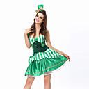 Cosplay Kostýmy / Kostým na Večírek Burlesque/Klaun Festival/Svátek Halloweenské kostýmy Zelená Patchwork Šaty / T-Back / Klobouk