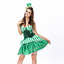 Cosplay Nošnje / Kostim za party Burlesque/Klaun Festival/Praznik Halloween kostime Zelen Kolaž Haljina / T-Back / ŠeširHalloween /
