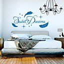 zidne naljepnice zidne naljepnice, moderni slatki san citat PVC zidne naljepnice.
