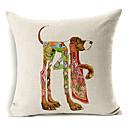 živ pas uzorak pamuka / lana dekorativne jastučnicu