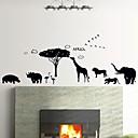 壁のステッカー壁のステッカー、アフリカのスタイル黒い動物PVCウォールステッカー