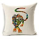 crtan tigar uzorak pamuka / lana dekorativne jastučnicu