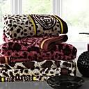SenSleep® 3pcs Hand Towel Pack, Multi-Color Leopard Design 100% Cotton Hand Towel