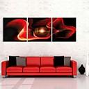 e-HOME® plátně umění abstraktní červená růže dekorace malování set of 3