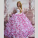 プリンセスライン ドレス ために バービー人形 ベージュ / フクシア ドレス のために 女の子の 人形玩具