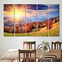 電子home®は5のキャンバスアートの山々や木々装飾画セットを伸ばし