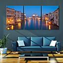 e-HOME® roztažený vedl na plátně umění města kanál blesku účinek vedl sadu 3