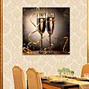 E-home® rastegnut na čelu platnu print umjetnosti šampanjac stakla bljesak djelovanje dovelo