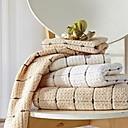 sensleep®3本のハンドタオルは、明るい茶色またはlvory幾何学的なデザインの綿100%のハンドタオルを詰める