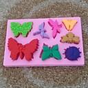 動物蝶形のフォンダンケーキチョコレートシリコンモールドカップケーキケーキのデコレーションツール、l10.6cm * w6.8cm * h1cm