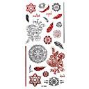 Tetovaže naljepnice - Flower Serija - za Žene/Girl/Odrasla osoba/Boy - Uzorak - #(26CM*10.8CM) - Uzorak - #(1) kom. - ( Šaren - Metal)