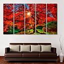 E-home® pruži platnu umjetnosti Javor ukras slikanje set od 5