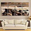 E-home® rastegnut platnu si morske plaže ukrasne slikarstvo set od 4