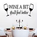 samolepky na zeď na stěnu, víno trochu pvc samolepky na zeď