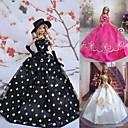 Princeza Haljine Za Barbie lutka Bijela / Crna / Fuschia Haljine