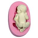 1 Pcs DIY / Spavanje beba Shape / torta uređenje / pečenje alat / 3D Torta/kolači / Keksi / Čokoladno smeđa / Cupcake MramorPribor za