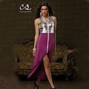 obell® ženska sexy / klub kontrast boja srastanje nepravilna Hem haljina (plesti / ostalo)