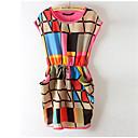 ysmi女性のシフォンチェックのドレス