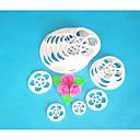 4-Cケーキカッター、リーフフォンダンカッターセット、フォンダンツールケーキデコレーションツール、ケーキカッター金型13pcs /セットローズ