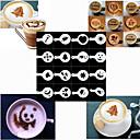 Pečení vysoce kvalitní sprej formy tisku latte formy pro kávu (sada 16)
