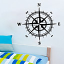 samolepky na zeď na stěnu, styl kompas PVC samolepky na zeď