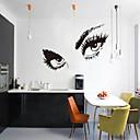 3D samolepky na zeď na stěnu, styl lidí půvabné oči pvc na zeď samolepky