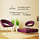 samolepky na zeď na stěnu, styl angličtina láska nenachází pvc samolepky na zeď