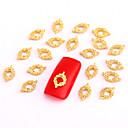 10ks zlaté nail art šperky vinobraní vzor aryclic nehtové tipy dekorace nail art se třpytí na nehty