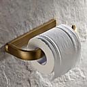 トイレットペーパーホルダー アンティークブラス ウォールマウント L19.3*W8.6*H2.6cm(L7.6*W3.4*H1 インチ) 真鍮 アンティーク