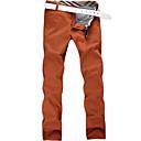 Obično Muška Chinos hlače Ležerne prilike / Posao / Formalno / Sport,Pamuk Crvena