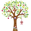sove igraju na šarene zidne naljepnice stabla za djecu sobi zooyoo7223 ukrasne prijenosnih PVC zid decal