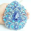 Žene pribor srebro-ton plave vještački dijamant kristalno cvijet broš art deco kristalno broš buket žene nakit