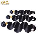 3pcs puno 8-26 inča neprerađeni peruanski djevica kosa prirodno crna boja tijela val ljudske kose tkati