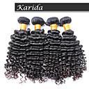 100% umprocessed panenský lidské vlasy, bez vylučování a žádnou změť 3 kusy / lot brazilský hluboká vlna vlasy zprohýbané