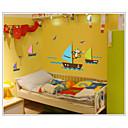 majmun traže san veslanje u more zid naljepnice zooyoo7043 izmjenjivi PVC životinja zid Naljepnice ukrasne DIY