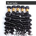 3 ks / lot no prolévání, ne spleť přírodní vlna rozšíření vlasy, brazilští lidské vlasy šít ve vazbě